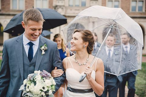 Romantic Rainy Day Wedding Portraits | Oldani Photography | See More! http://heyweddinglady.com/modern-chic-blue-white-and-silver-wedding