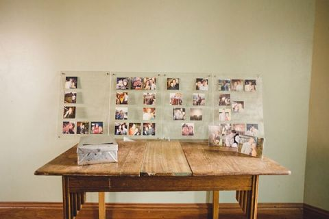 Modern Wedding Photo Display in a Giant LOVE | Oldani Photography | See More! http://heyweddinglady.com/modern-chic-blue-white-and-silver-wedding/
