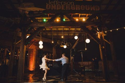 An Epic Wedding Dance Party with Just the Bride and Groom! | Oldani Photography | See More! http://heyweddinglady.com/modern-chic-blue-white-and-silver-wedding