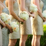Bridesmaids in Champagne and Gold with Ivory Bouquets | Eye Wander Photography | See More! https://heyweddinglady.com/gold-and-champagne-wedding-in-new-orleans/