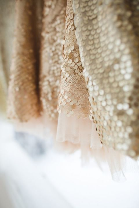 Champagne Sequin Bridesmaid Dresses from Nordstrom and ASOS | Lauren Fair Photography | See More! https://heyweddinglady.com/peonies-champagne-wedding-inspiration-new-hey-wedding-lady/