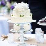 Simple Rustic Wedding Cakes and Desserts Handmade by a Friend | Dawn Heumann Photography | See More! https://heyweddinglady.com/romantic-bespoke-wedding-handmade-by-friends/