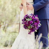 Hand Tied Garden Wedding Bouquet in Rich Purple | Figlewicz Photography | See More! http://heyweddinglady.com/classic-garden-wedding-in-rich-purple/
