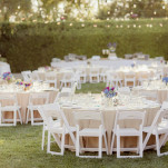 Classic Garden Wedding Reception in Ivory and Purple | Figlewicz Photography | See More! https://heyweddinglady.com/classic-garden-wedding-in-rich-purple/