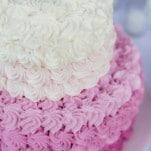 Purple Ombre Swirl Wedding Cake | Figlewicz Photography | See More! https://heyweddinglady.com/classic-garden-wedding-in-rich-purple/