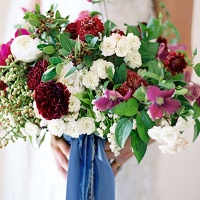 Fall 2014's Hot Color – Merlot Wedding Inspiration