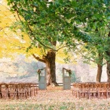 Autumn Country Wedding Ceremony Under an Oak Tree | Jodi Miller Photography | See More! http://heyweddinglady.com/harvest-gold-wedding-inspiration-in-rich-autumn-hues/