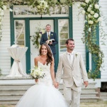 Romantic Mermaid Wedding Dress | J&J Photography | Classic Southern Ivory and Gold Wedding