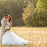 Bathed in Gold for Magic Hour Portraits | J&J Photography | Classic Southern Ivory and Gold Wedding