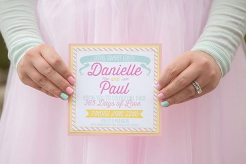 Retro Pastel Invitation | Jessica Little Photography | Retro Candy Shop Anniversary Shoot
