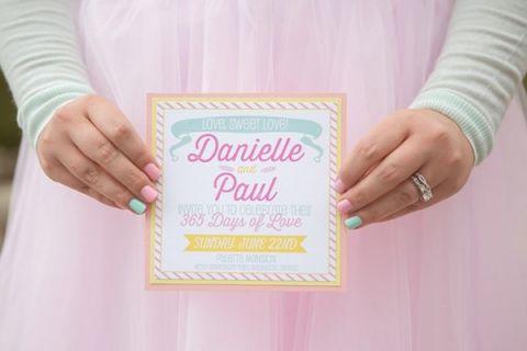 Retro Pastel Invitation | Jessica Little Photography | Retro Candy Shop Anniversary Shoot