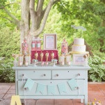 Gorgeous Cake and Dessert Display | Jessica Little Photography | Retro Candy Shop Anniversary Shoot