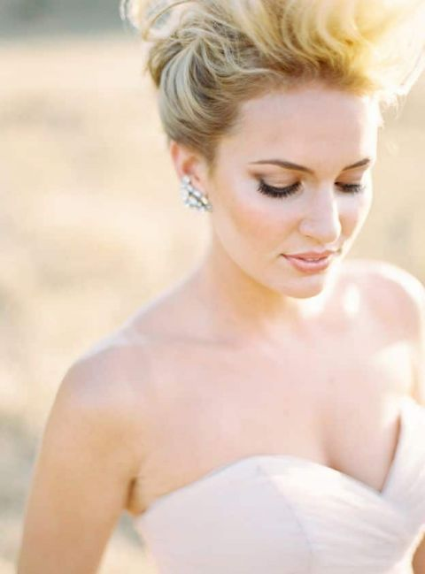 Modern Bridal Makeup | Ryan Ray Photography |Sophisticated Autumn Wedding Inspiration in Blush and Bronze