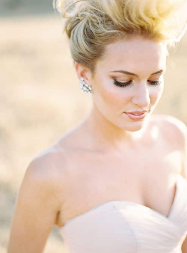 makeup for wedding day sophisticated autumn wedding inspiration in blush and 5664