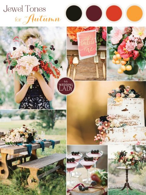 Vibrant Jewel Toned Autumn Wedding Inspiration