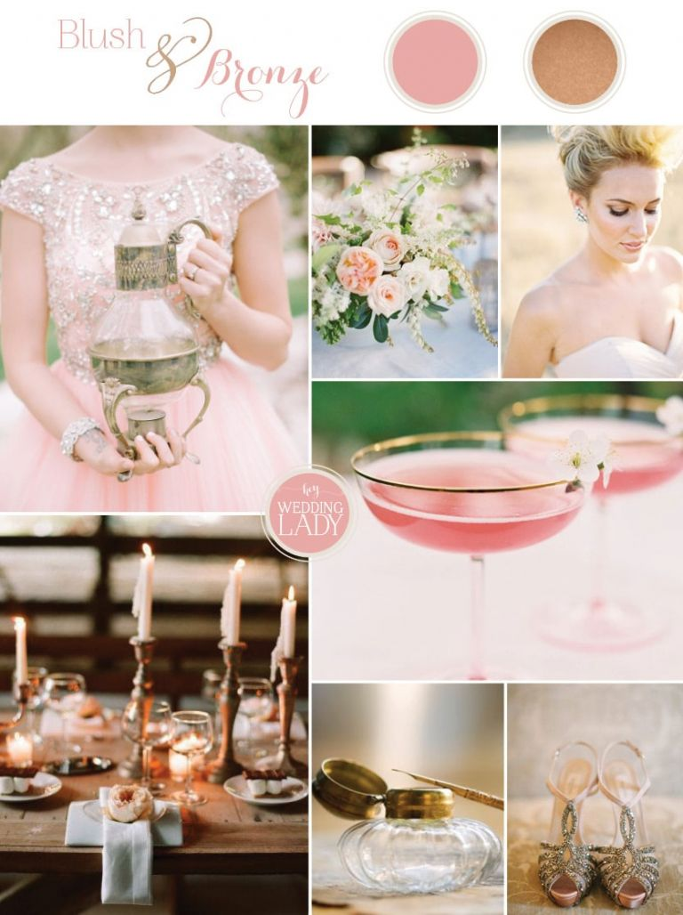 Sophisticated Autumn Wedding Inspiration in Blush and Bronze