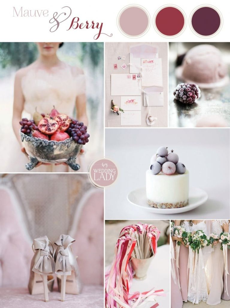 Delicate and Ethereal Wedding Inspiration in Mauve and Berry for Autumn 2014