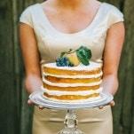 Elegant Naked Wedding Cake | Nhiya Kaye Photography | Minimalist Elegance with Country Chic Details