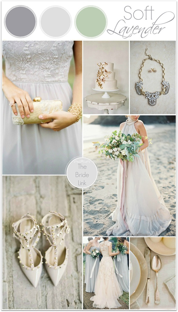 Lavender and Gold Wedding Inspiration from The Bride Link