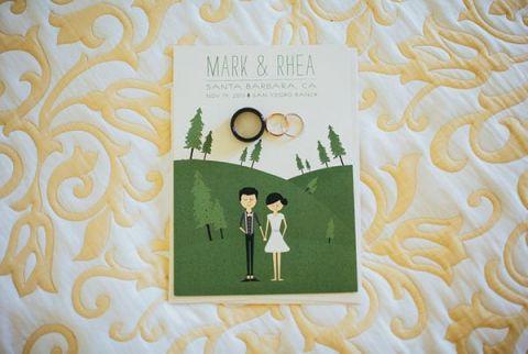Charming Custom Drawn Wedding Invitation | Yes, Dear. Studio | Old World Spanish Inspired Wedding