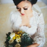 Gorgeous Lace Wedding Dress with Dramatic Bridal Makeup | Yes, Dear. Studio | Old World Spanish Inspired Wedding