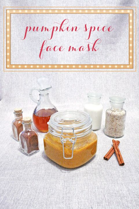 DIY Pumpkin Space Face Mask