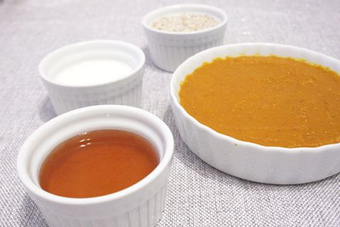 Pumpkin, Honey, Milk, and Almond Meal for a Moisturizing and Exfoliating Face Mask