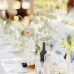 Relaxed Bohemian Centerpieces   Figlewicz Photography   Coral and Green Botanical Gardens Wedding