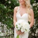 Garden Wedding Portraits with a Stunning Ivory Gown   Hauntingly Beautiful Vintage Bridal Portraits   Jamie Fender, Photographer