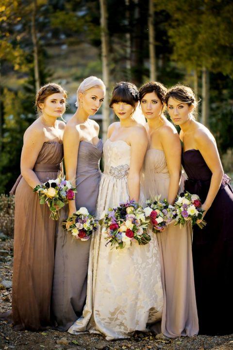 Autumn Wedding Bridesmaid Dresses 43 Great Elegant Bridal Party in