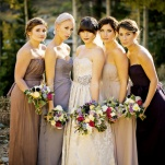 Elegant Bridal Party in Shades of Purple | Modern Glam Autumn Wedding in Fig and Gold | Pepper Nix Photography and Michelle Leo Events