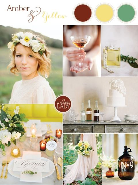 Modern Bohemian Wedding Inspiration in Amber and Yellow