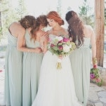 Stunning Bridesmaid Shot | Ellie Asher Photo | Dreamy Mountain Lodge Wedding in Fuchsia and Mint