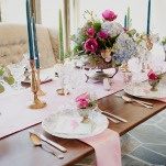 Elegant Pastel Wedding Decor | Ellie Asher Photo | Dreamy Mountain Lodge Wedding in Fuchsia and Mint