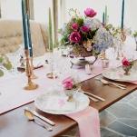 Elegant Pastel Wedding Decor | Ellie Asher Photo | Dreamy Mountain Lodge Wedding in Fuchsia and Mint