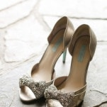 Silver Peep Toe Wedding Shoes | Amanda Watson Photography | Sophisticated Countryside Wedding in Sparkling Blush