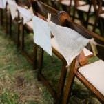 Vintage Handkerchiefs as Aisle Decor   Amanda Watson Photography   Sophisticated Countryside Wedding in Sparkling Blush
