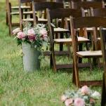 Lush Floral Ceremony Aisle Decor   Amanda Watson Photography   Sophisticated Countryside Wedding in Sparkling Blush