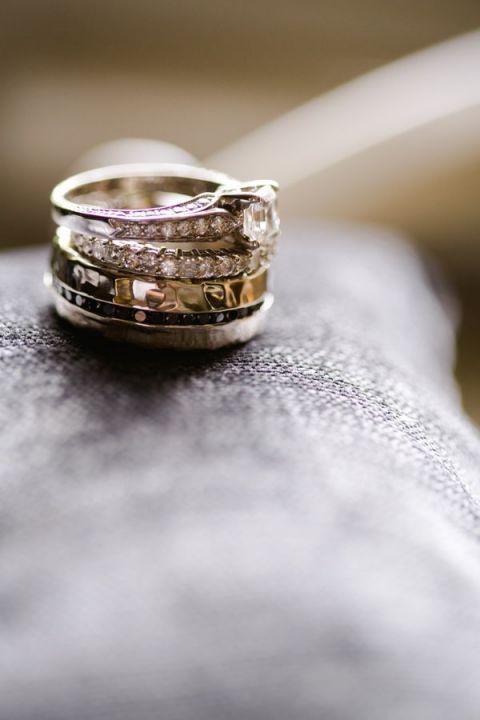 Diamond Engagement Ring Band | Amanda Watson Photography | Sophisticated Countryside Wedding in Sparkling Blush