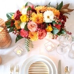 Clean and Fresh Table Decor with Gold Accents | Styling Modern Metallics with a Classic Autumn Palette for Chic Table Decor | Hey Wedding Lady
