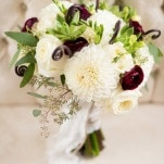 Elegant Neutral Fall Bouquet | Kirsten Smith Photography | English Inspired Country Club Wedding in Purple and White