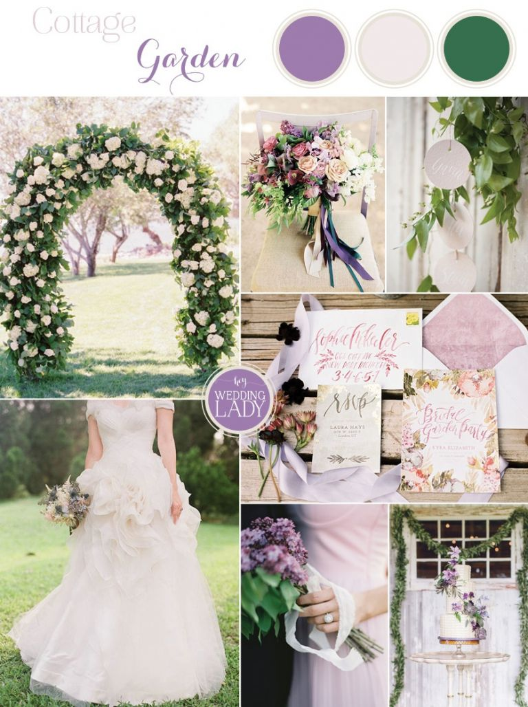 Romantic Cottage Garden Wedding Inspiration in Lilac and Antique Ivory