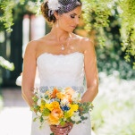 Modern Elegant Bridal Style | Lisa Mallory Photography | Modern Ranch Wedding in Orange and Aqua