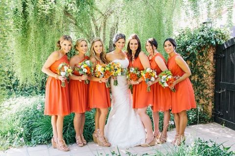 Orange Wedding Dresses 48 Great Chic Orange Bridesmaids with