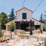 Sophisticated Barn Wedding Reception | Lisa Mallory Photography | Modern Ranch Wedding in Orange and Aqua