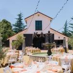 Sophisticated Barn Wedding Reception | Lisa Mallory Photography | Modern Ranch Wedding in Orange and Aqua