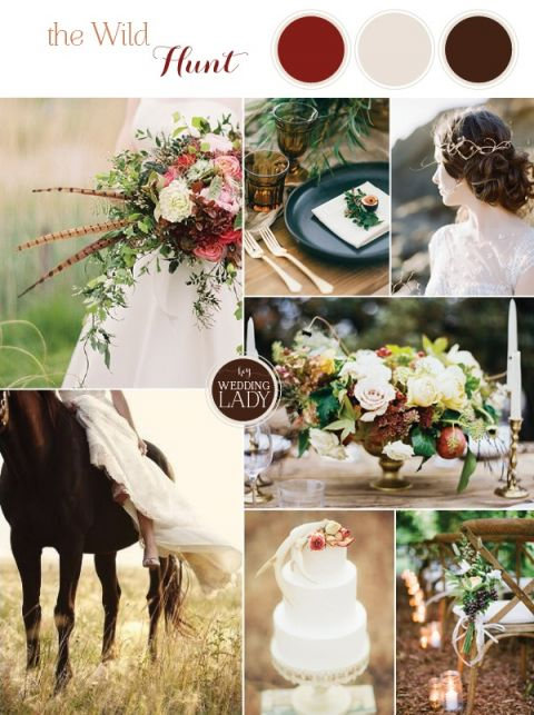 Dark and Romantic Wild Hunt Wedding Inspiration for Fall with Antler and Feather Details