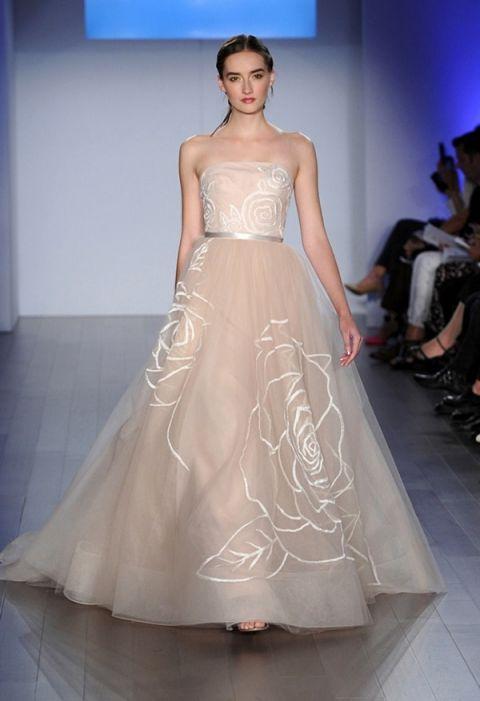 Kenneth Pool Wedding Dress 78 Amazing Blush Rose Embroidered Ball