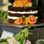 Citrus and Chocolate Naked Cake | Erin Johnson Photography | Iron and Velvet Romantic Steampunk Wedding