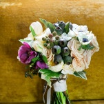 Ivory, Purple, and Green Vintage Inspired Bouquet by Munster Rose | Erin Johnson Photography | Iron and Velvet Romantic Steampunk Wedding